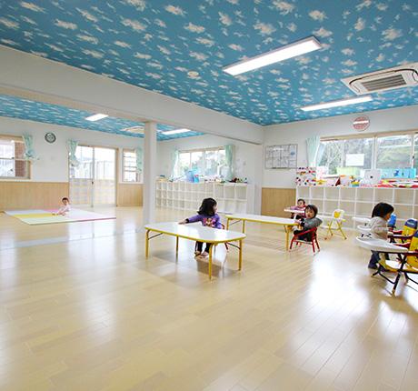 子ども達がのびのびと育つ空間、あんしん安全な託児施設