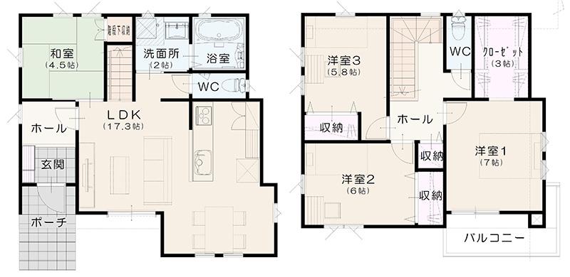 1階 平面図(諏訪№3)