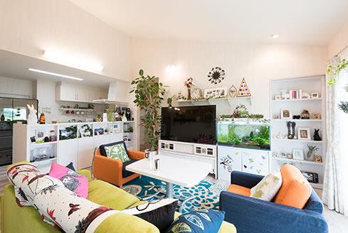 趣味や好きなものを大切に、アイデア満載の平屋の住まい