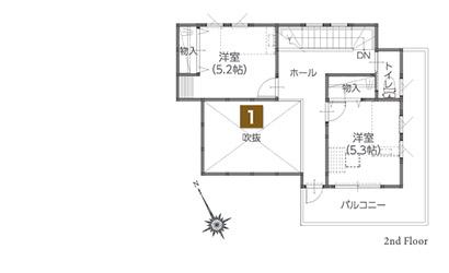 水戸市笠原リアルサイズ展示場1.5階